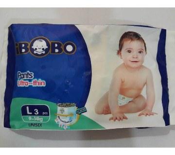 IBOBO বেবি ডায়াপারস (Velcro) L-৩ পিস