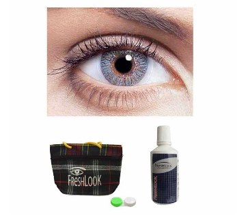 Freshlook Contact Lens (Misty Grey) + Lens Solution