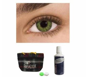 Freshlook Contact Lens (Gemstone Green) + Lens Solution