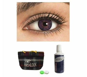 Freshlook Contact Lens (Amethyst) + Lens Solution