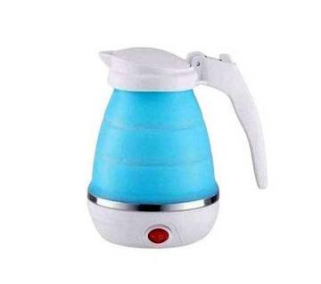 Foldable Electric Kettle for Traveling - White & Blue