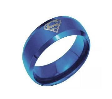 Blue Band Superman  mens ring