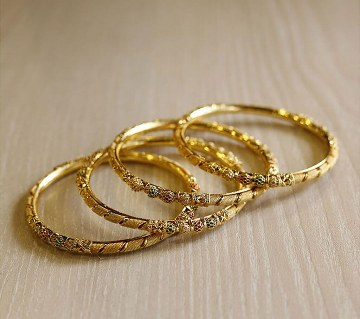 Indian gold plated bangles(4 pc)