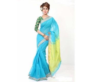Blue silk sharee