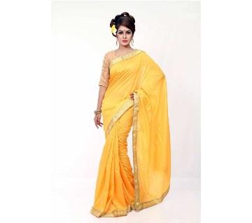 Yellow color silk sharee