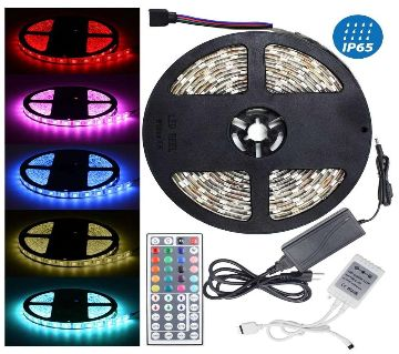 Four Color LED Strip Light - Remote Control-16 Feet Strip