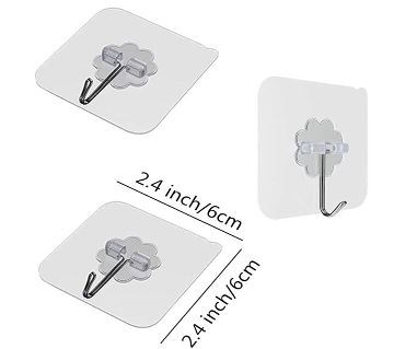 Attractive 10 Pcs Hanger Hook Transparent Strong Self Adhesive Door Wall Hangers Hooks Suction Heavy Load Rack Cup Sucker for Bathroom