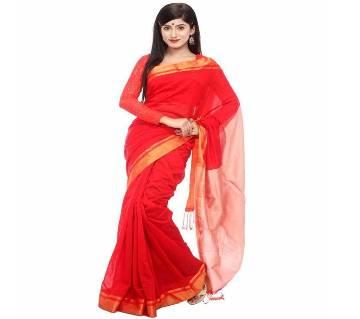 Red silk sharee