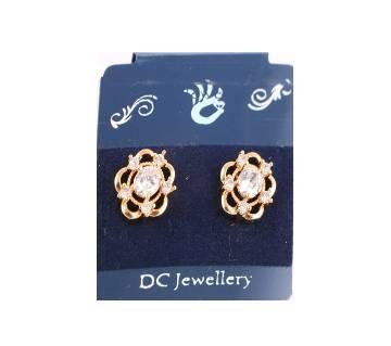 american diamond cut jhumka-642