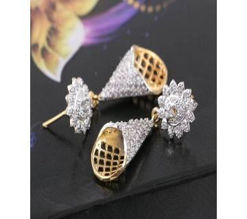 american diamond cut jhumka-671