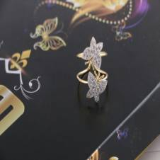 american diamond cut finger ring-666