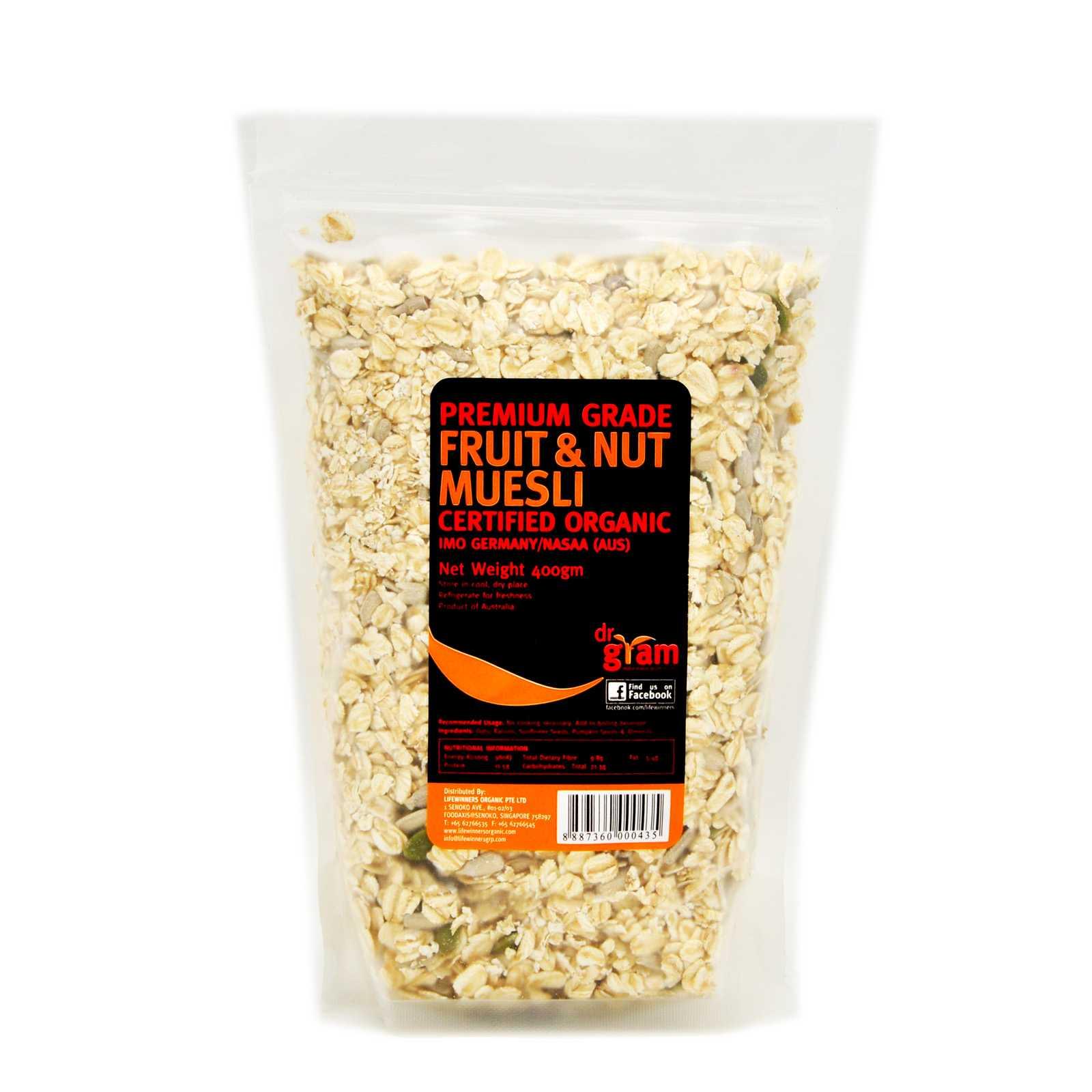 Premium Grade Fruit & Nut Muesli 400 gm