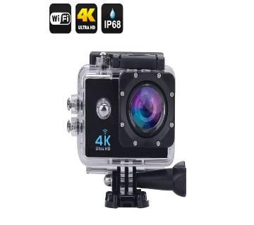 Wifi 1080P LCD WaterProof Motion detection Video Camera - Black