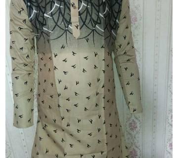 Mens Semi-long Cotton Punjabi