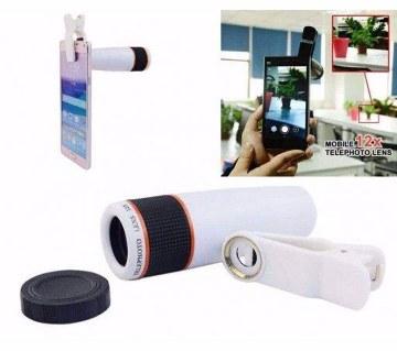 12X zoom clip mobile lens