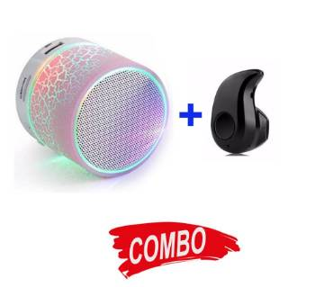 Portable Wireless Bluetooth Speaker + Mini Bluetooth Earphone Combo Offer