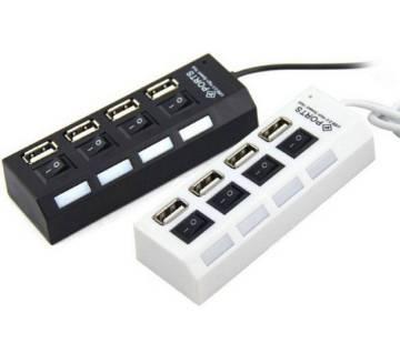 4 Port USB 2.0 Hub 1 piece