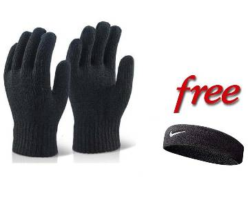 Cotton String Knit Hand Gloves with FREE Hand band