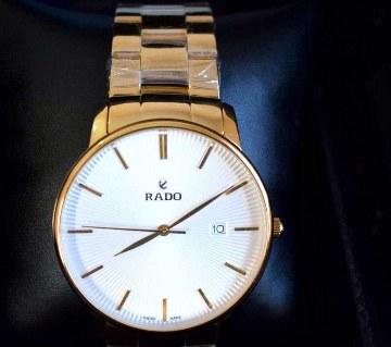 Rado White Dial Golden Watch (Copy)
