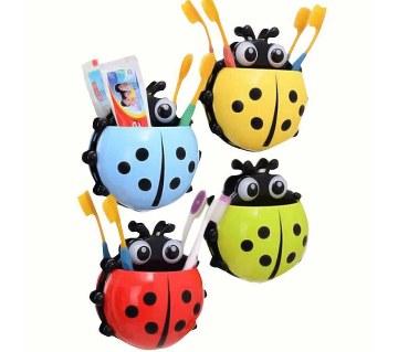 Ladybug শেপড টুথব্রাশ হোল্ডার (২ পিস)