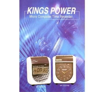 Kings Power মাইক্রো কম্পিউটার টাইম রেকর্ডার