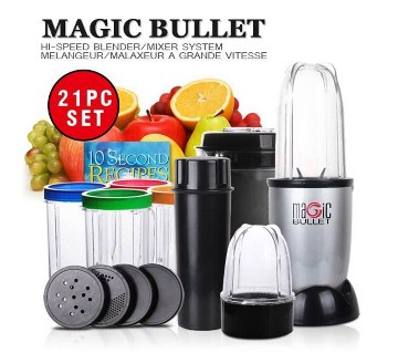 Magic Bullet Blender - 21 Pieces Set