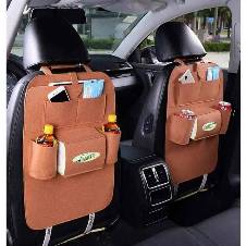 Car seat back organizer