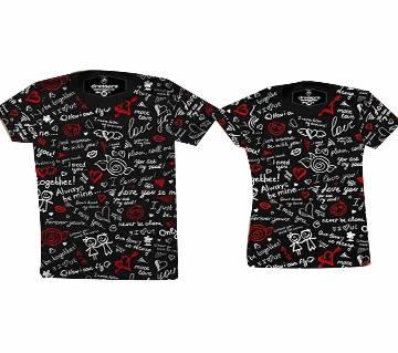 Half Sleeve Couple T-Shirt