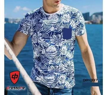 Half Sleeve Gents Casual T-Shirt