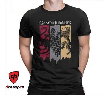 Game of Thrones Half Sleeve Gents Casual T-Shirt