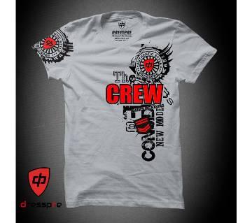 Crew Half Sleeve Gents Casual T-Shirt