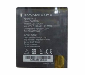 Symphony W-72 3150 mAh Replacement Battery