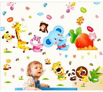 Cartoon Printed Wall Sticker