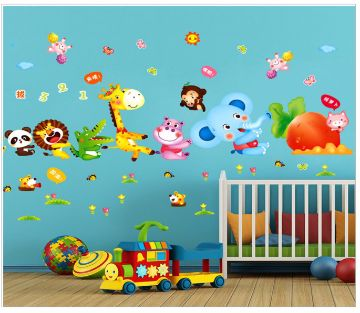 Cartoon Printed Wall Sticker