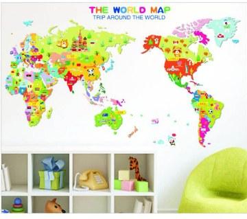 The World Map Wall Sticker