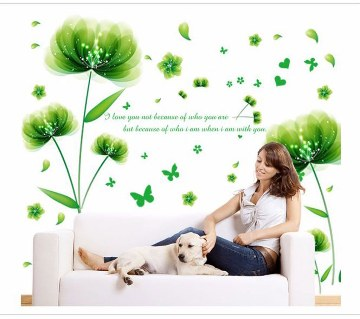 Floral Printed Wall Sticker
