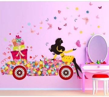 Floral Printed Car Wall Sticker