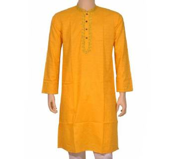 embroidery long cotton punjabi for men