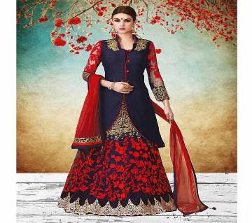 Unstitched Georgette Embroidery Lehenga