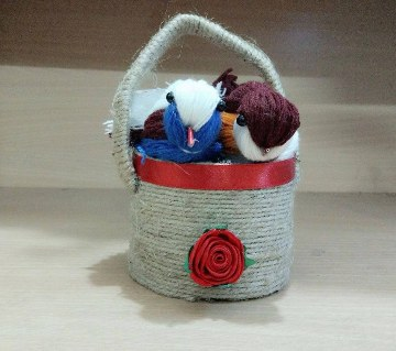 Jute and cotton made Showpiece