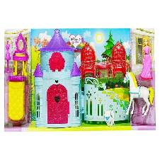 Fashion Castle Set With Little Doll Toys Set For Kids