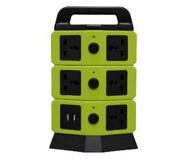 ৩ লেয়ার মাল্টিপ্লাগ উইথ 4 USB পোর্ট