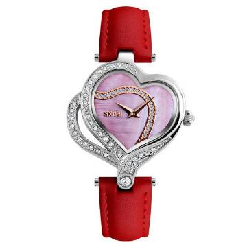 SKMEI artificial pearl dial ladies watch
