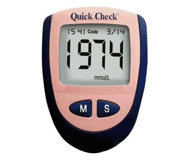 Quick Check Blood Sugar Monitoring Machine
