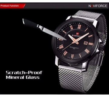 Naviforce Nf9052 Analog Stainless Steel Watch