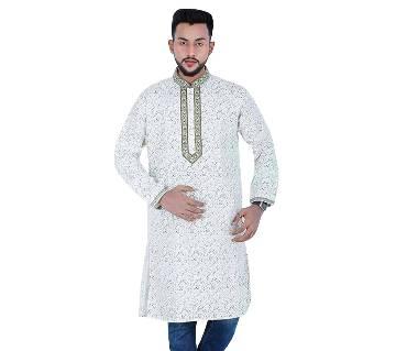 Semi-long Cotton Punjabi For Men