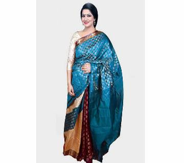 Indian soft Tosor Silk 4 Ply Sharee (With Blouse)