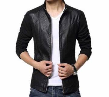 Full Sleeve Gents Artificial Leather Jacket