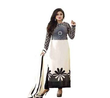 Unstiched block printed Rajdhani voyel cotton salwar kameez
