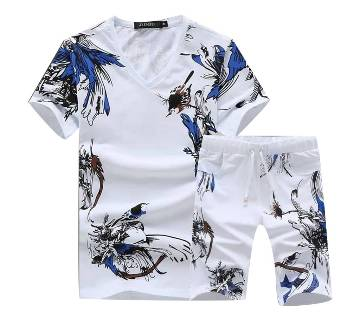 TWO IN ONE. MENZ T-SHIRT & SHORTS